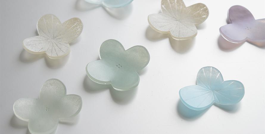 八木麻子のガラス作品