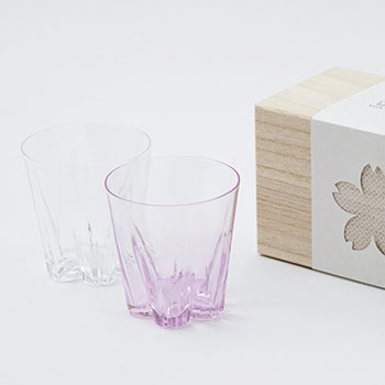 100%/SAKURASAKU GLASS ROCK サクラサクグラス(ロック)紅白セット