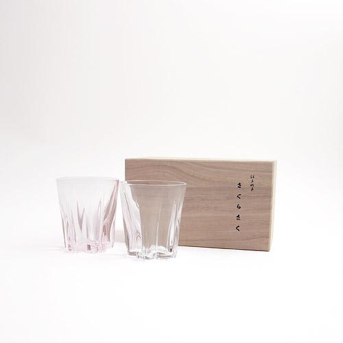 100%/SAKURASAKU glass サクラサクグラス(サケ) 紅白セット