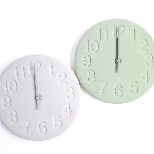 Lemnos レムノス/「珪藻土の時計」壁掛け時計(2色)