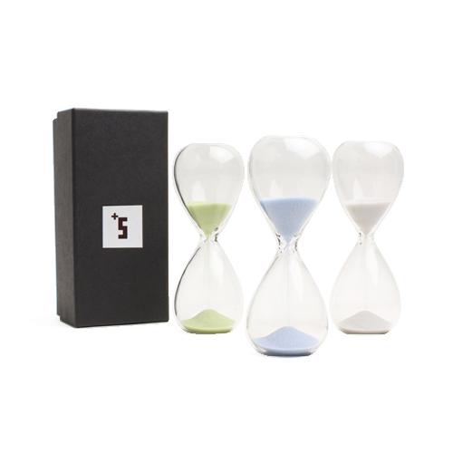 +S プラスエス/「スナ式トケイ」ガラス製 砂時計 3分計(3色)