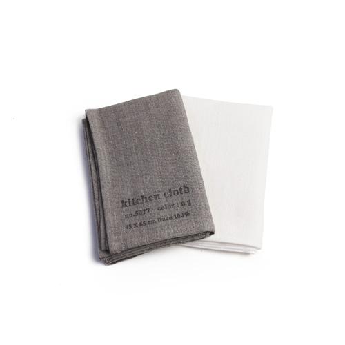 fog linen work フォグ リネンワーク/リネンキッチンクロス(ナチュラル・ホワイト)