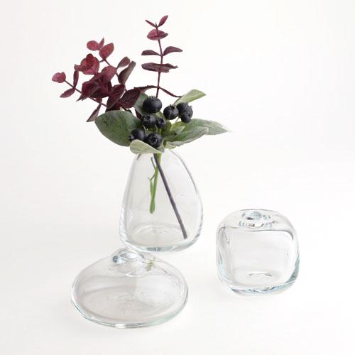 Sghr スガハラ /一輪挿し「mini vaseミニベース」クリア(3種)