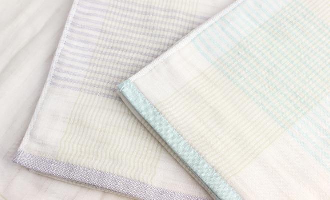 オリジナル今治タオルのスカイブルーとネイビーのコンパクトバスタオル