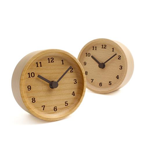 Lemnos レムノス/「MUKU desk clock ムク デスククロック」置時計(2種)