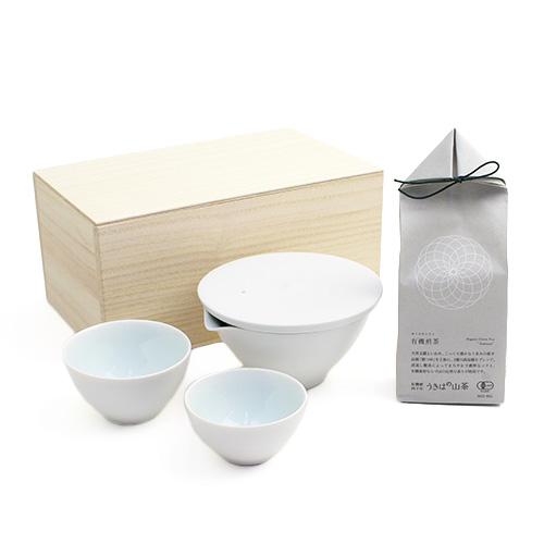 「+S」プラスエス/茶器・うきはの山茶 有機煎茶 ギフトセット