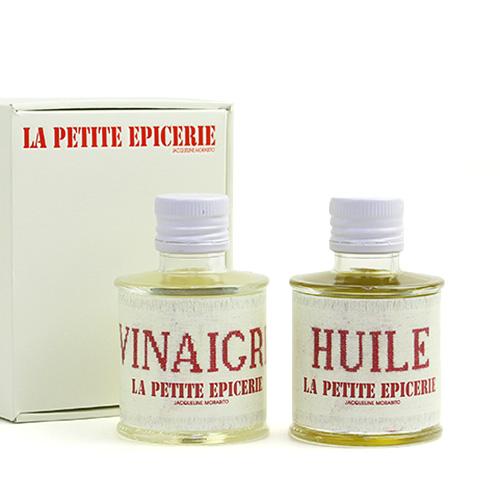 LA PETITE EPICERIE ラ プティット エピスリー/オリーブオイル・白バルサミコ ギフトセット「ファブリック エンブロイダリーシリーズ」