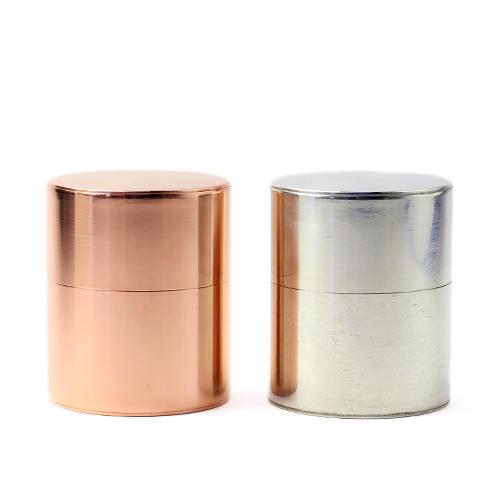 開化堂/茶筒「平型 200g」(銅・ブリキ)