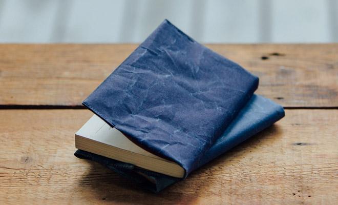 SIWA 紙和(しわ)/ブックカバー 文庫サイズ(2色)/ブックカバー 文庫サイズ ダークブルーのイメージ画像