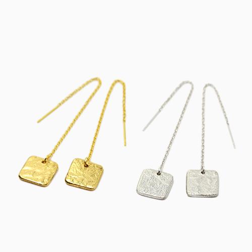 NAGAE+ ナガエプリュス/TIN BREATH Pierced earring A ティンブレス ピアス10×10(2色)