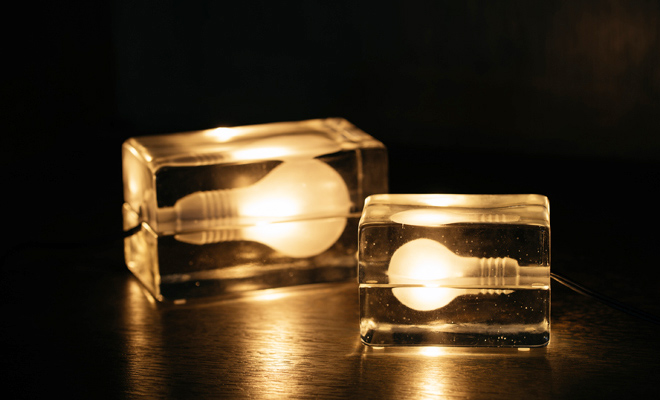 DESIGN HOUSE STOCKHOLM デザインハウスストックホルム/Block Lamp ブロックランプ(2サイズ)/Block Lamp ブロックランプ(2サイズ)の画像