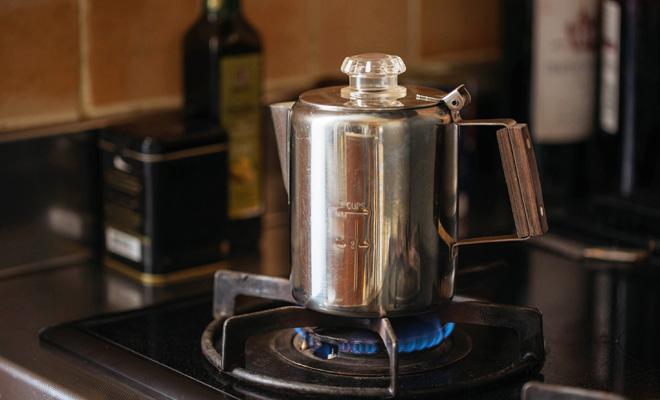コーヒーパーコレーター(3cup用)/コーヒーパーコレーター(3cup用)が火にかかってる画像