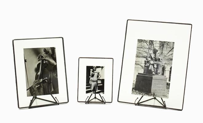 Bedford Downing Glass ベッドフォード/フォトフレーム ブラック・シングル(S・M・L)/フォトフレーム ブラックダブル(S・M)が並んだ画像