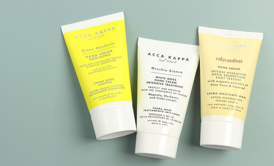 ACCA KAPPA アッカカッパ/ホワイトモス ハンドクリーム(75ml)/ホワイトモス ハンドクリームその他ボディケア商品が並んだ画像