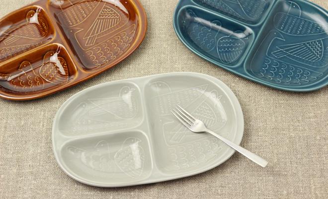 Pebble Ceramic Design Studio 石原亮太/ランチプレートバードが並んだイメージ画像