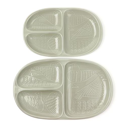 Pebble Ceramic Design Studio 石原亮太/ランチプレート バード 限定色グレー(S・L)