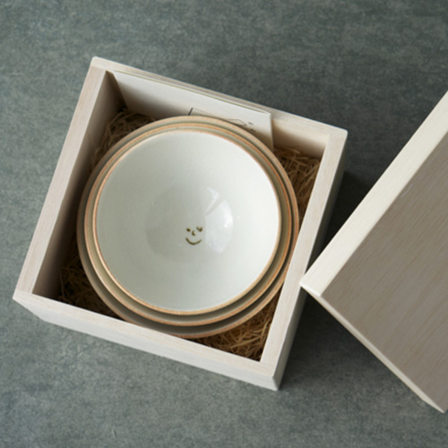 AR Piece アールピース/KAZOKU-CHA-WAN 家族茶碗 ライスボール 3点セット(木箱入り)