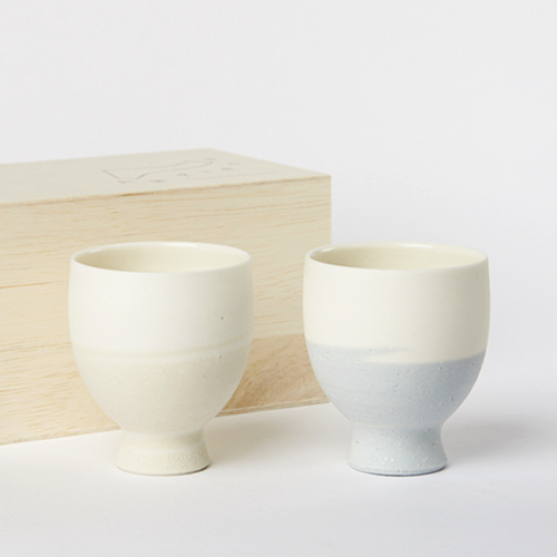 AR Piece+S アールピース/TOU GLASS GOBLET PAIR SET SKY 陶グラスゴブレットペアセット スカイ