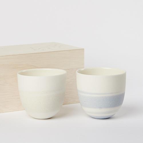 AR Piece+S アールピース/TOU GLASS CUP PAIR SET SKY 陶グラスカップペアセット スカイ