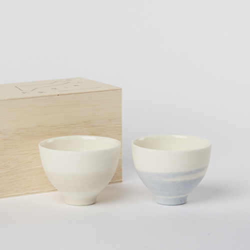AR Piece+S アールピース/TOU GLASS GOBLET SAKAZUKI PAIR SET SKY 陶グラス盃ペアセット スカイ