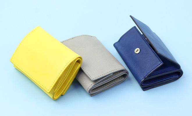 Maine マイネ 三つ折り財布3色が並べられた画像