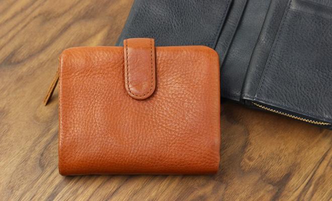 Arizona アリゾナ ベルト付き2つ折り財布2色が並んだ画像