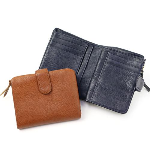 Arizona アリゾナ/ベルト付き2つ折り財布(2色)