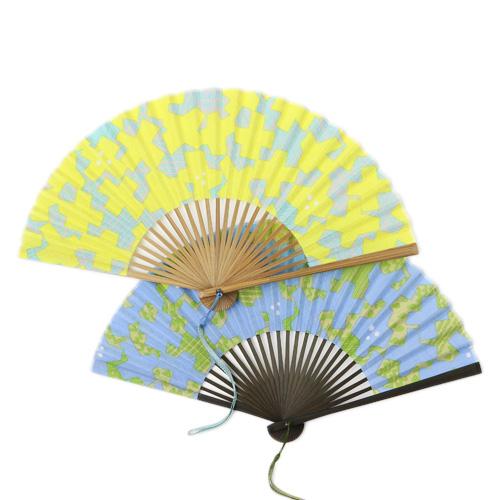 華市松 はないちまつ/祝い文扇子 ひびのこづえ「風車」(2色)