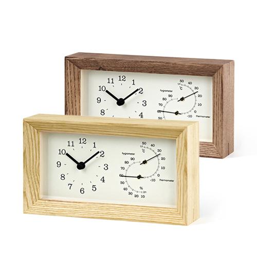 Lemnos レムノス/FRAME 温湿度計付時計(LC13-14/2色)