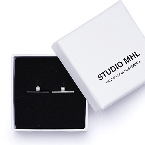 STUDIO MHL/バーピアス パール(2種)