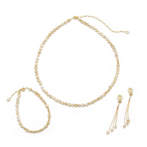 misa ミサ/「ハートMOP」ネックレス、ブレスレット、イヤリング