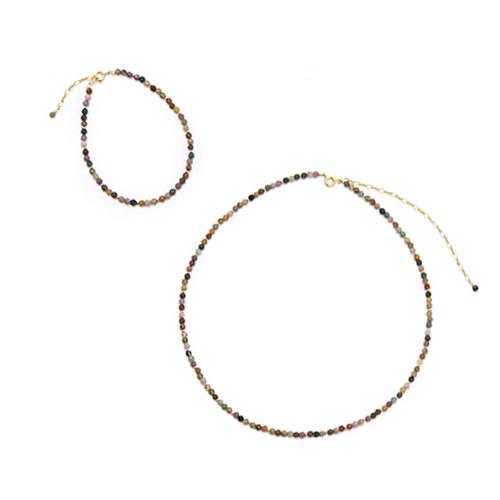 misa ミサ/「アゲート」ブレスレット、ネックレス(2種)