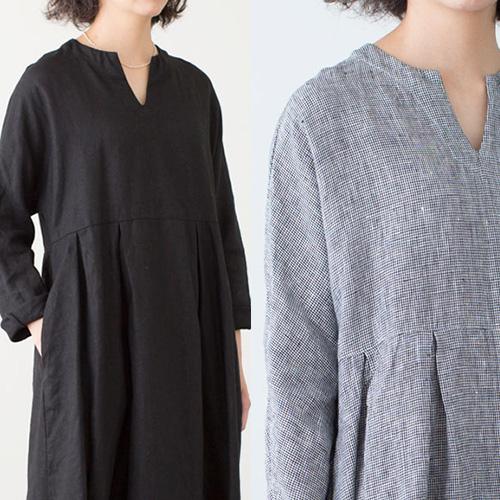 fog linen work フォグ リネンワーク/LIANA DRESS リアナ ワンピース(2色)