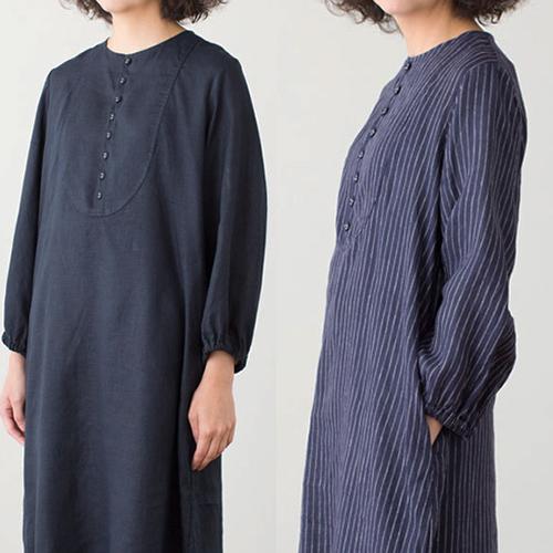 fog linen work フォグ リネンワーク/GINA DRESS ジ―ナ ワンピース(2色)