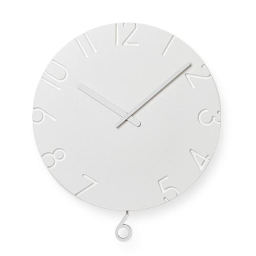Lemnos レムノス/「CARVED カーヴド」壁掛け時計 swing (NTL15-11)