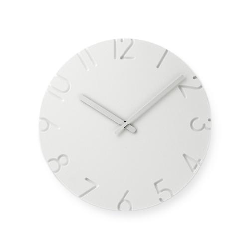 Lemnos レムノス/「CARVED カーヴド」壁掛け時計 Arabic(NTL10-04A)