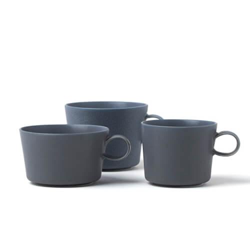 イイホシユミコ yumiko iihoshi porcelain/「unjour アンジュール」カップ rainy gray(3サイズ)