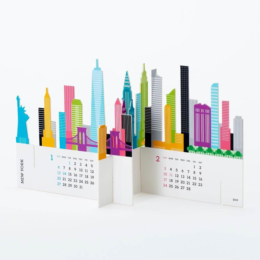 2019カレンダー/good morning 「CITY」シティ カレンダー