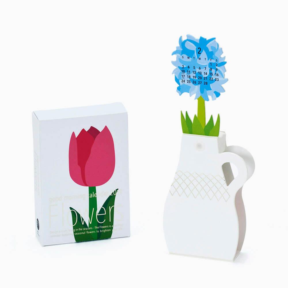 2019カレンダー/good morning 「Flowers」フラワーズ カレンダー