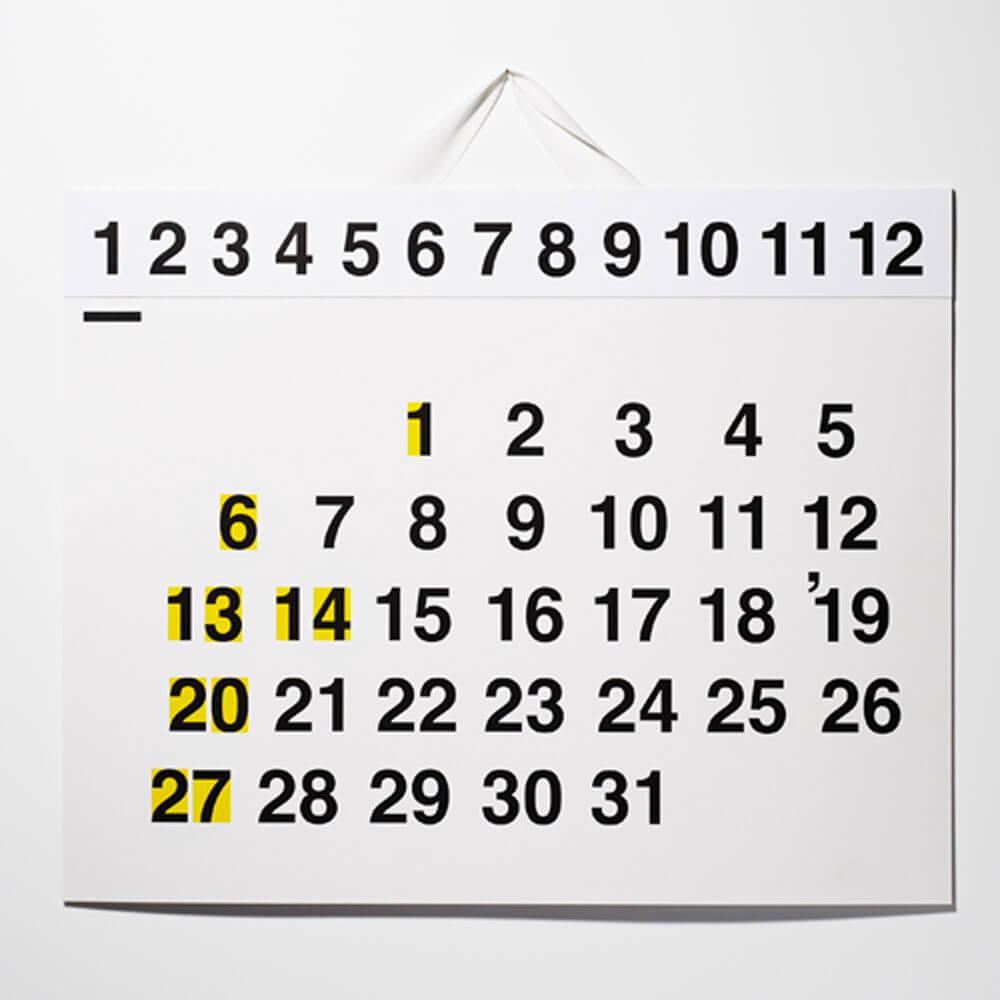 2019カレンダー/D-BROS 「365'19」サン・ロク・ゴ カレンダー