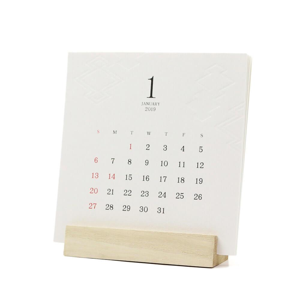 2019カレンダー/SHICO シコウ 「和紋カレンダー」