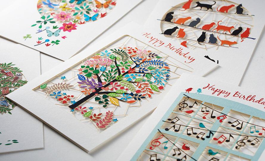 Forever Handmade Cards レーザーカットグリーティングカードのイメージ画像