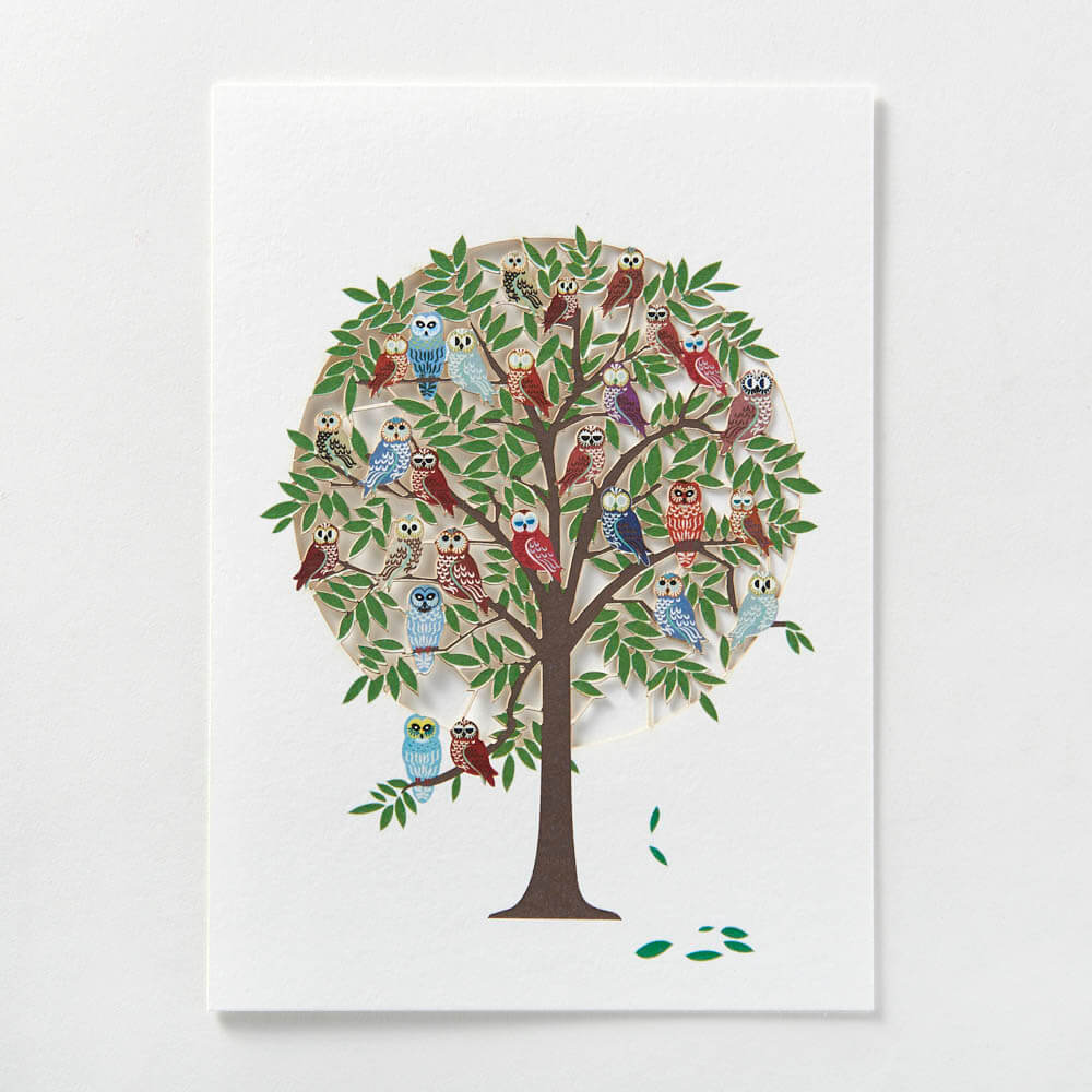 Tree full of owls