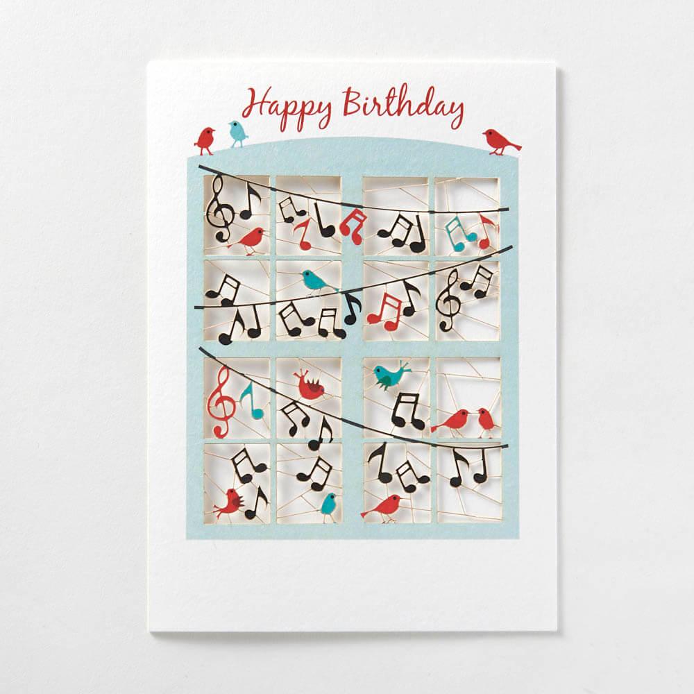 Happy Birthday birds and music