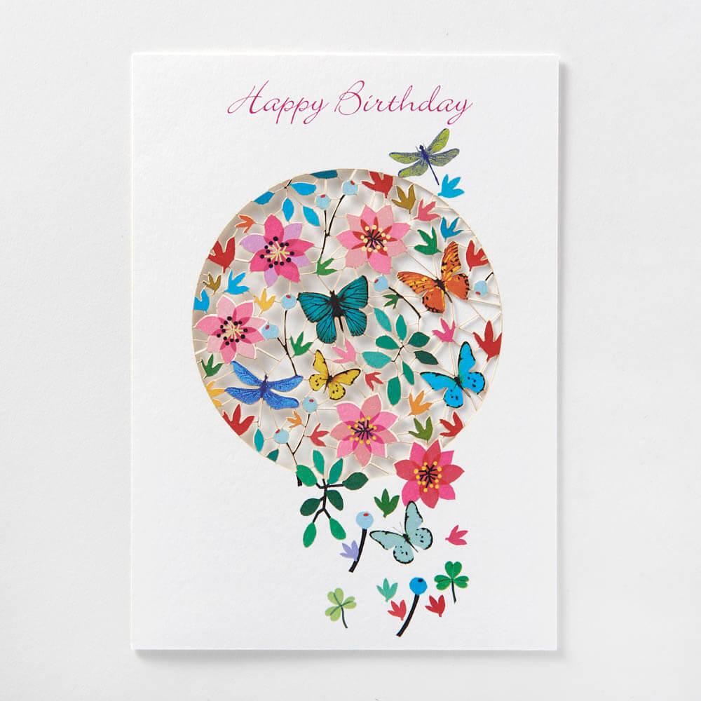 Happy Birthday flower&butterfly