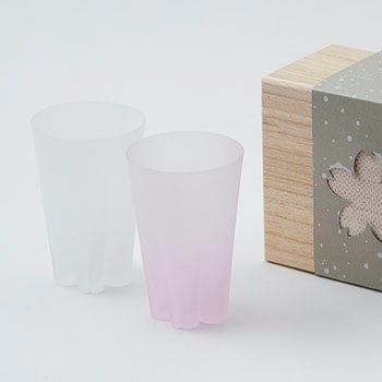 100%/SAKURASAKU YUKISAKURA TUMBLER サクラサクグラス 雪桜(タンブラー)紅白セット