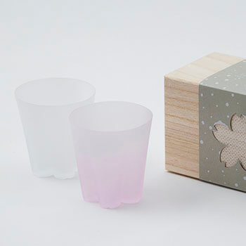 100%/SAKURASAKU YUKISAKURA ROCK サクラサクグラス 雪桜(ロック)紅白セット