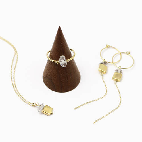 5octobre+S サンク・オクトーブル/gold plate pierce・necklace/stone ring(ピアス・ネックレス・リング)