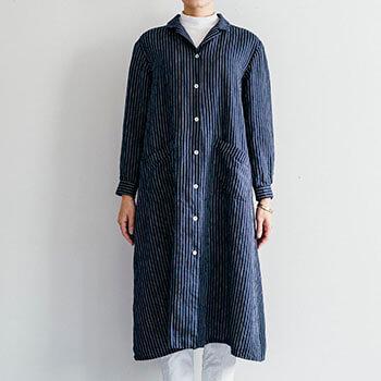 fog linen work フォグ リネンワーク/CATH DRESS GEORGE キャス ワンピース ジョージ