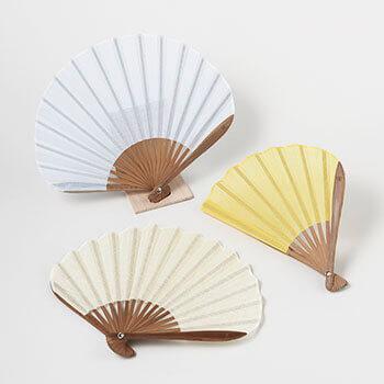 西川庄六商店 にしかわしょうろくしょうてん/ガーゼ素材のふわり扇子(3色)